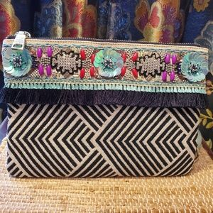 Steve Madden BEAUTIFUL beaded convertible clutch